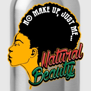 Black Girl - No make up,just me Natural beauty - Water Bottle