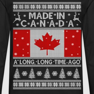 Ugly Christmas sweater for Canadian - Men's Premium Long Sleeve T-Shirt