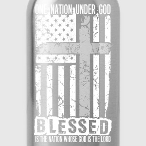 Christian - Under god blessed, god is the lord - Water Bottle