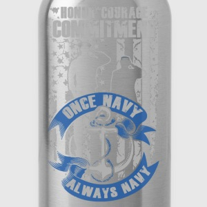 American Navy - Honor, courage, commitment - Water Bottle