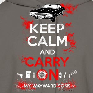 Supernatural - Keep calm and carry on - Men's Hoodie