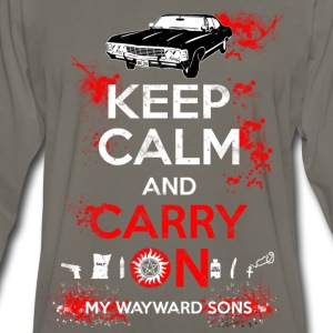 Supernatural - Keep calm and carry on - Men's Premium Long Sleeve T-Shirt