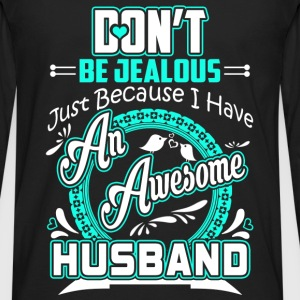 Husband - I have an awesome husband t-shirt - Men's Premium Long Sleeve T-Shirt