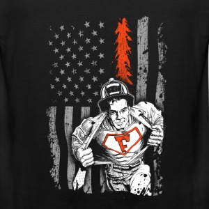 Firefighter Flag shirt for Volunteer Firefighter - Men's Premium Tank