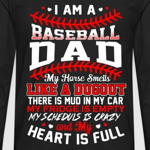 Baseball dad - My heart is full awesome t-shirt - Men's Premium Long Sleeve T-Shirt