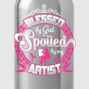 Artist - Blessed by god spoiled by my artist tee - Water Bottle