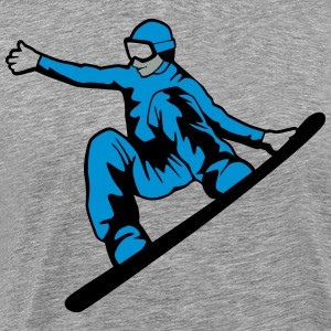 Snowboarder Hoodies - Men's Premium T-Shirt