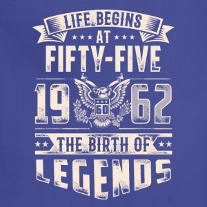 Life Begins At Fifty Five Tshirt - Adjustable Apron