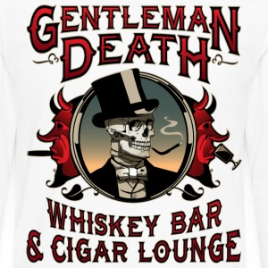 Gentleman Death Whiskey Bar & Cigar Lounge - Men's Premium Long Sleeve T-Shirt