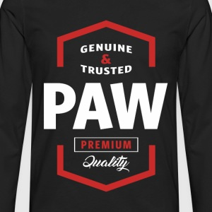Genuine Paw Tshirt - Men's Premium Long Sleeve T-Shirt