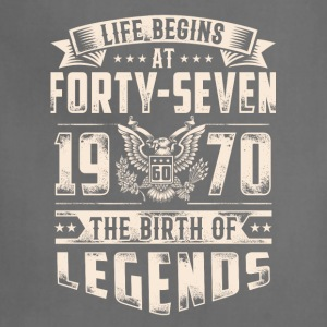 Life Begins At Forty Seven tshirt - Adjustable Apron