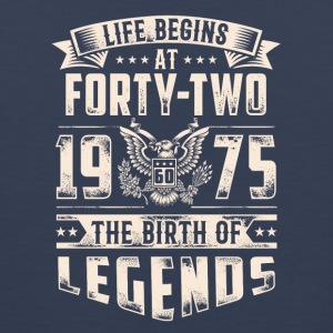 Life Begins At Forty Two Tshirt - Men's Premium Tank