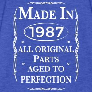 made in 1987 birthday Hoodies - Fitted Cotton/Poly T-Shirt by Next Level