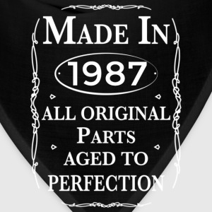 made in 1987 birthday Hoodies - Bandana