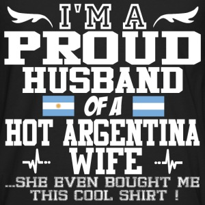 argentina wife 121290129012901.png T-Shirts - Men's Premium Long Sleeve T-Shirt
