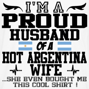 argentina wife 112.png T-Shirts - Men's Premium Long Sleeve T-Shirt