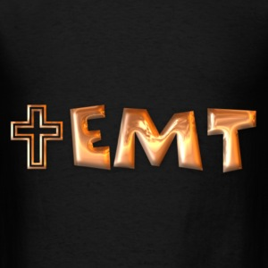 Copper EMT & Cross Men's Hoodie - Men's T-Shirt