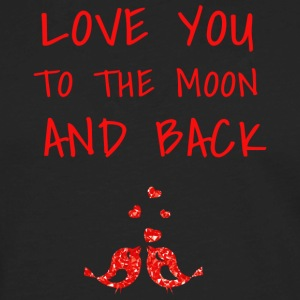 love you to the moon and back II - Men's Premium Long Sleeve T-Shirt