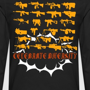 Celebrate Diversity Funny - Men's Premium Long Sleeve T-Shirt