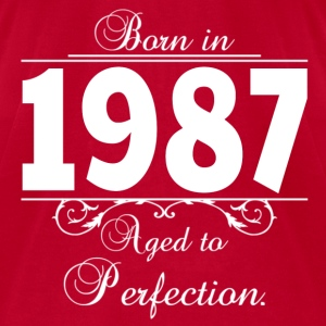 Born in Age 1987 birthday Hoodies - Men's T-Shirt by American Apparel
