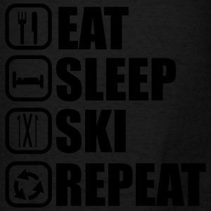 eat sleep ski Hoodies - Men's T-Shirt