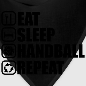 eat sleep handball repeat T-Shirts - Bandana