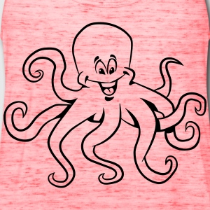 Squid oktopus funny comic T-Shirts - Women's Flowy Tank Top by Bella