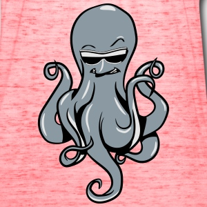 Squid oktopus cool sunglasses T-Shirts - Women's Flowy Tank Top by Bella