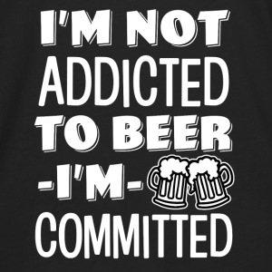I'm not addicted to beer, I'm Committed funny  - Men's Premium Long Sleeve T-Shirt