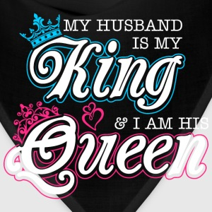 My Husband Is My King And Im His Queen T-Shirts - Bandana