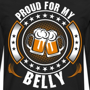 Proud For My Belly T-Shirts - Men's Premium Long Sleeve T-Shirt