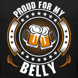 Proud For My Belly T-Shirts - Men's Premium Tank