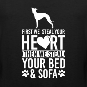 Italian Greyhound Dog Stole Heart Bed T-Shirt T-Shirts - Men's Premium Tank