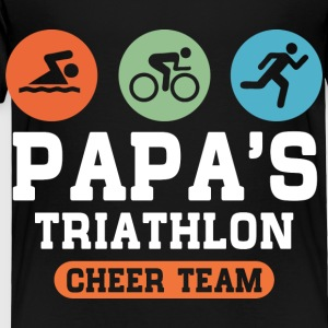 Triathlon Papa Kids' Shirts - Toddler Premium T-Shirt