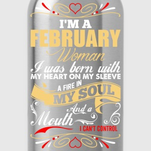 Im A February Woman T-Shirts - Water Bottle
