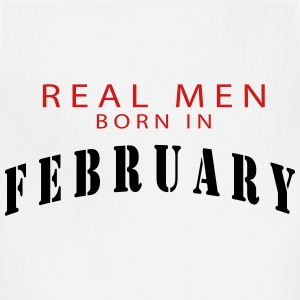 REAL MEN BORN IN FEBRUARY T-Shirts - Adjustable Apron