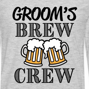 Groom's Brew Crew groomsman bachelor party shirt - Men's Premium Long Sleeve T-Shirt