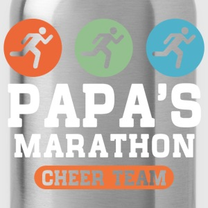 Papas Marathon Cheer Team Kids' Shirts - Water Bottle