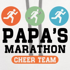 Papas Marathon Cheer Team Kids' Shirts - Contrast Hoodie