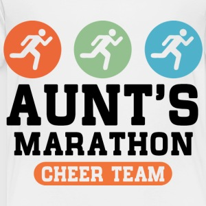 Aunts Marathon Cheer Team Kids' Shirts - Toddler Premium T-Shirt