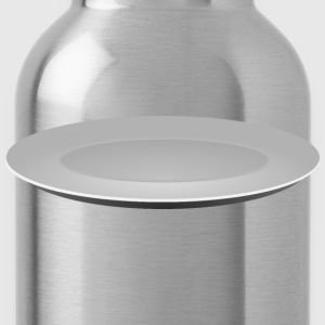 Plain Grey Plate - Water Bottle