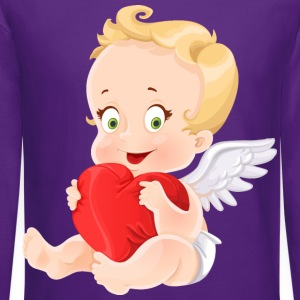 amourchik-smile-cupid-wings-heart-ValentinesDay - Crewneck Sweatshirt