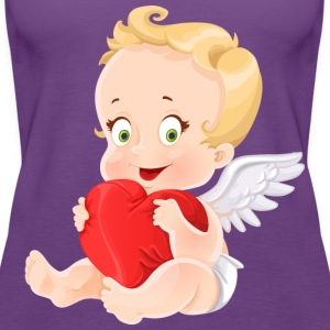 amourchik-smile-cupid-wings-heart-ValentinesDay - Women's Premium Tank Top