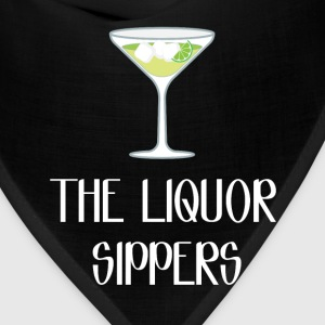 The Liquor Sippers Cocktail Classy Drinker T-Shirt T-Shirts - Bandana