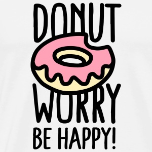 Donut worry Be happy! US Tanks - Men's Premium T-Shirt