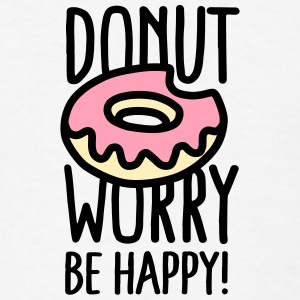 Donut worry Be happy! US Buttons - Men's T-Shirt