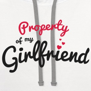 Propriety of my girlfirend T-Shirts - Contrast Hoodie