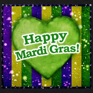 Happy Mardi Gras Logo - Men's T-Shirt