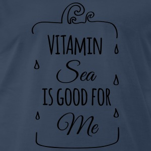 Vitamin sea is good for me ocean beach holiday C Long Sleeve Shirts - Men's Premium T-Shirt