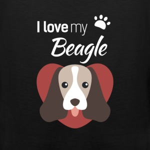 Beagle - I love my Beagle - Men's Premium Tank